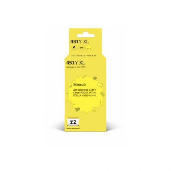 Картридж T2 IC-CCLI-451Y XL желтый