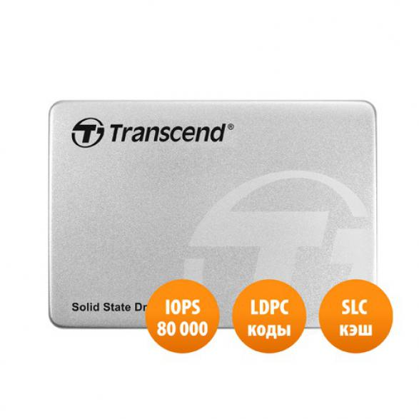 "SSD накопитель TRANSCEND TS120GSSD220S 120Гб 2.5"" SATA"