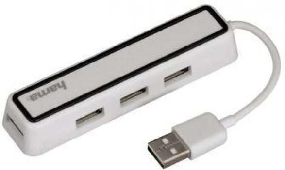 USB хаб HAMA 12169 4 порта USB 2.0 [00012169]