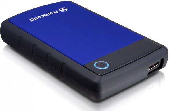 Внешний жесткий диск TRANSCEND StoreJet 25H3 TS2TSJ25H3B 2000 Гб USB 3.0 черный синий